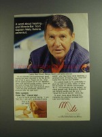 1984 Miracle-Ear Inner Ear Canal Aid Ad - Wally Schirra