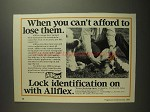 1984 Allflex Eartags Ad - You Can't Afford To Lose Them