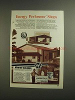 1984 Morton Buildings Ad - Energy Performer Shops