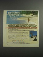 1984 Cayman Islands Department of Tourism Ad - Beaches