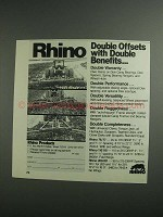 1984 Rhino Products Ad - Double Offset