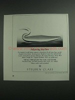 1984 Steuben Glass Ad - Shore Bird by James Houston