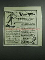 1984 NordicTrack Cardiovascular Exerciser Ad
