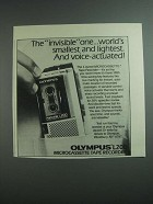 1984 Olympus L200 Microcassette Tape Recorder Ad