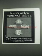 1984 De Beers Diamond Anniversary Ring Ad - How Mutual