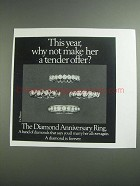 1984 De Beers Diamond Anniversary Ring Ad - Tender