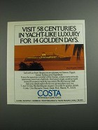 1984 Costa Cruises Ad - In Yacht-Like Luxury