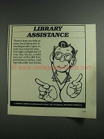 1984 Internal Revenue Service Ad - Library Assistance