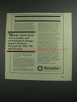 1984 Metropolitan Insurance Companies Ad - Where, When