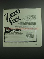 1984 Dreyfus Tax Exempt Bond Fund Ad - Zero Tax