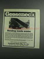 1984 Gooseneck Grain or Refuse Trailer Ad - Easier