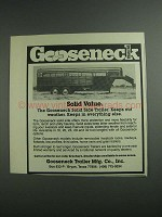 1984 Gooseneck Solid Side Trailer Ad - Solid Value