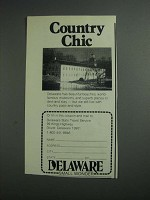 1984 Delaware State Travel Service Ad - Country Chic