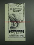 1984 Banana Republic Leather and Linen Essential Bag Ad