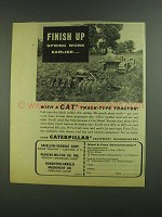 1955 Caterpillar CAT Track-type Tractor Ad - Finish Up