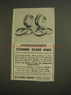 1955 Old Pueblo Traders Guard Rings Ad - Stunning