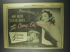 1956 The Come On Movie Ad - Anne Baxter