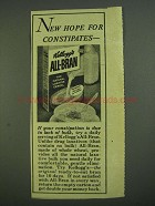 1956 Kellogg's All-Bran Cereal Ad - For Constipates