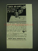 1956 Arrow Metal Products Arco Jig-Saw Ad