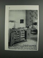 1958 John Widdicomb Furniture Ad - Makers of Fine Furniture