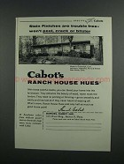 1958 Samuel Cabot Ranch House Hues Stains Ad