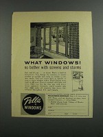 1958 Pella Windows Ad - No Bother With Screens