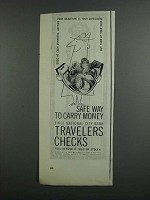 1958 First National City Travelers Checks Advertisement