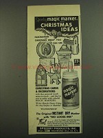 1958 Speedry Products Magic Marker Ad - Christmas Ideas