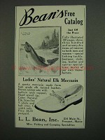 1958 L.L. Bean Ladies' Natural Elk Moccasin Ad
