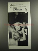 1959 Coty L'Aimant Perfume Ad - Makes Woman Feminine