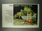 1959 Kraft Oil Ad - The Light Touch Oil