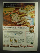 1959 Aunt Jemima Oatmeal Bread Easy-Mix Ad