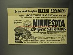 1961 State of Minnesota Dept of Agriculture Potatoes Ad