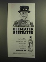 1962 Beefeater Gin Ad