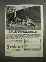 1962 Ireland Tourism Ad - Make This Lovely Land