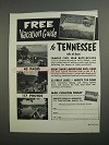 1962 Tennessee Tourism Ad