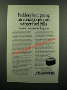 1976 Fedders Heat Pump Air Conditioner Ad