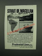1976 Prudential Lines Ad - Strait of Magellan