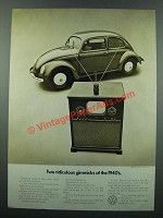 1971 Volkswagen Bug Ad - Two Ridiculous Gimmicks