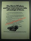 1971 Hertz Rent-A-Car Ad - The 747 Plans and Four Ways