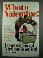 1971 Lennox Central Air Conditioning Ad - Valentine