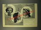 1949 Everitt Hat Ad - Cloche, Roller and Bonnet