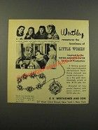 1949 Werthley Jewelry Ad - Janet Leigh, June Allyson