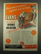 1947 Evans Oil-Burning Home Heater Ad - Moving In