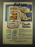 1947 Gibson Refrigerator Ad - Double Feature