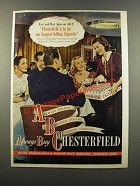 1947 Chesterfield Cigarettes Ad - By Far Our Largest