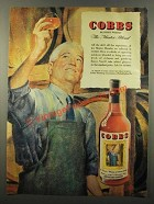 1947 Cobbs Blended Whisky Ad - The Master Blend