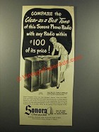1947 Sonora Model RMR 219 Phono-Radio Ad - Compare