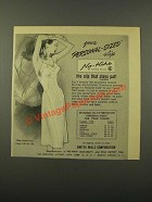 1947 United Mills No-Hike Slip Ad - Personal-Sized