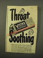 1947 Vicks Medicated Cough Drops Ad - Soothing